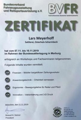 BVFR Zertifikat 2019