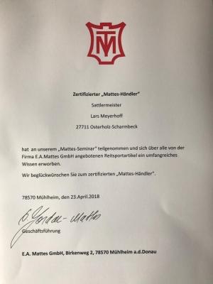 Zertifizierter Mattes Händler
